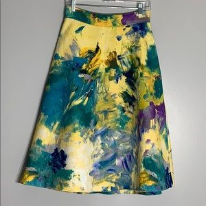 H&M Textured Abstract Print Full Skirt